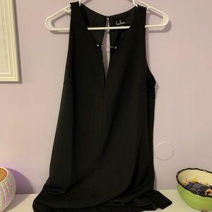 Lulus black asymmetric dress